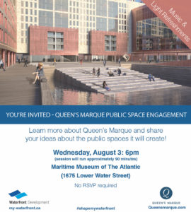 Queen's Marque Poster for Public Space Engagement