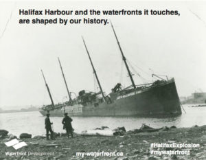 Capsized ship in Halifax Explosion