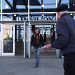 People walking in and out of Halifax Seaport