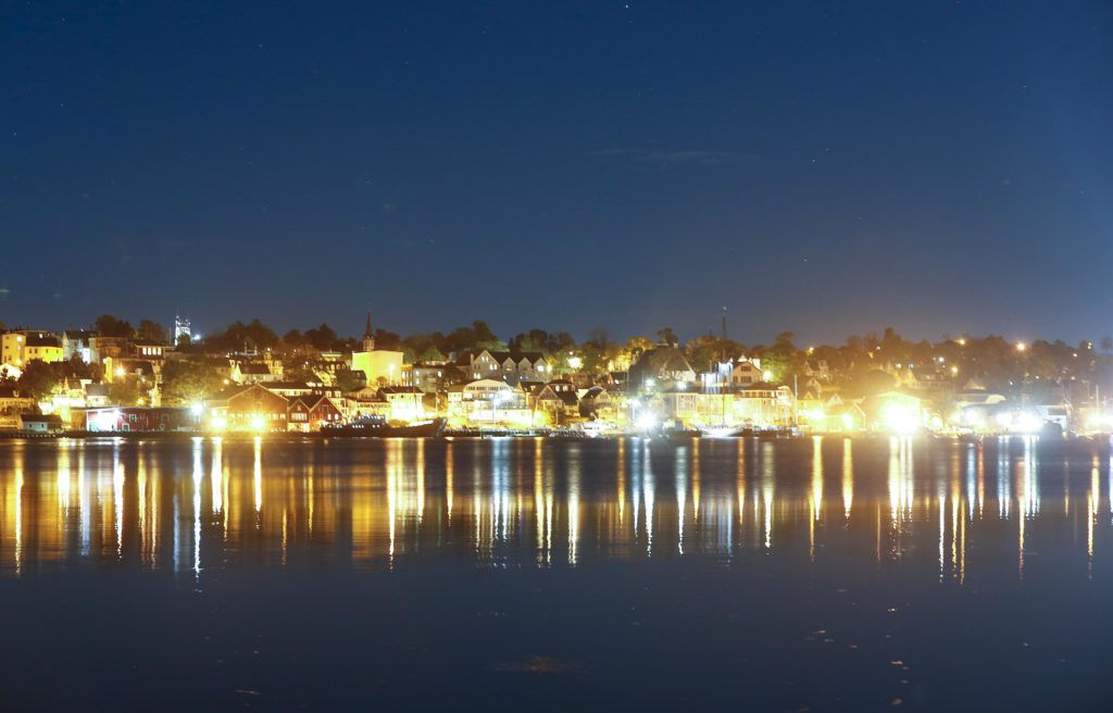 Lunenburg Harbour at Night - High Resolution