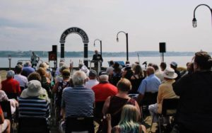 View of Audience at Remembrance Day Ceremony at the Waterfront