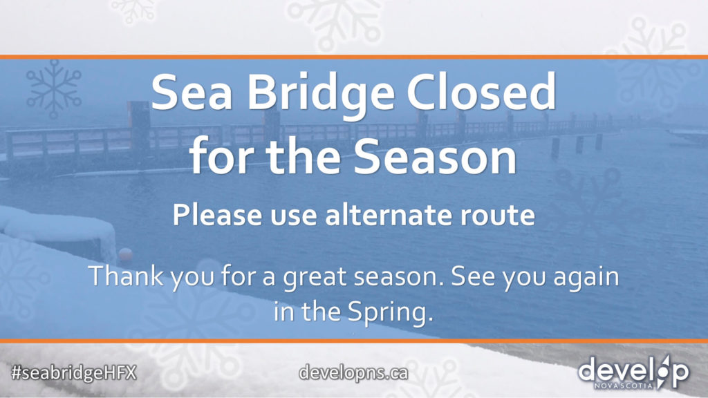 Sea Bridge Closed for the Season