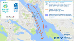 Map of Halifax Parade of Tall Ship Sail Route