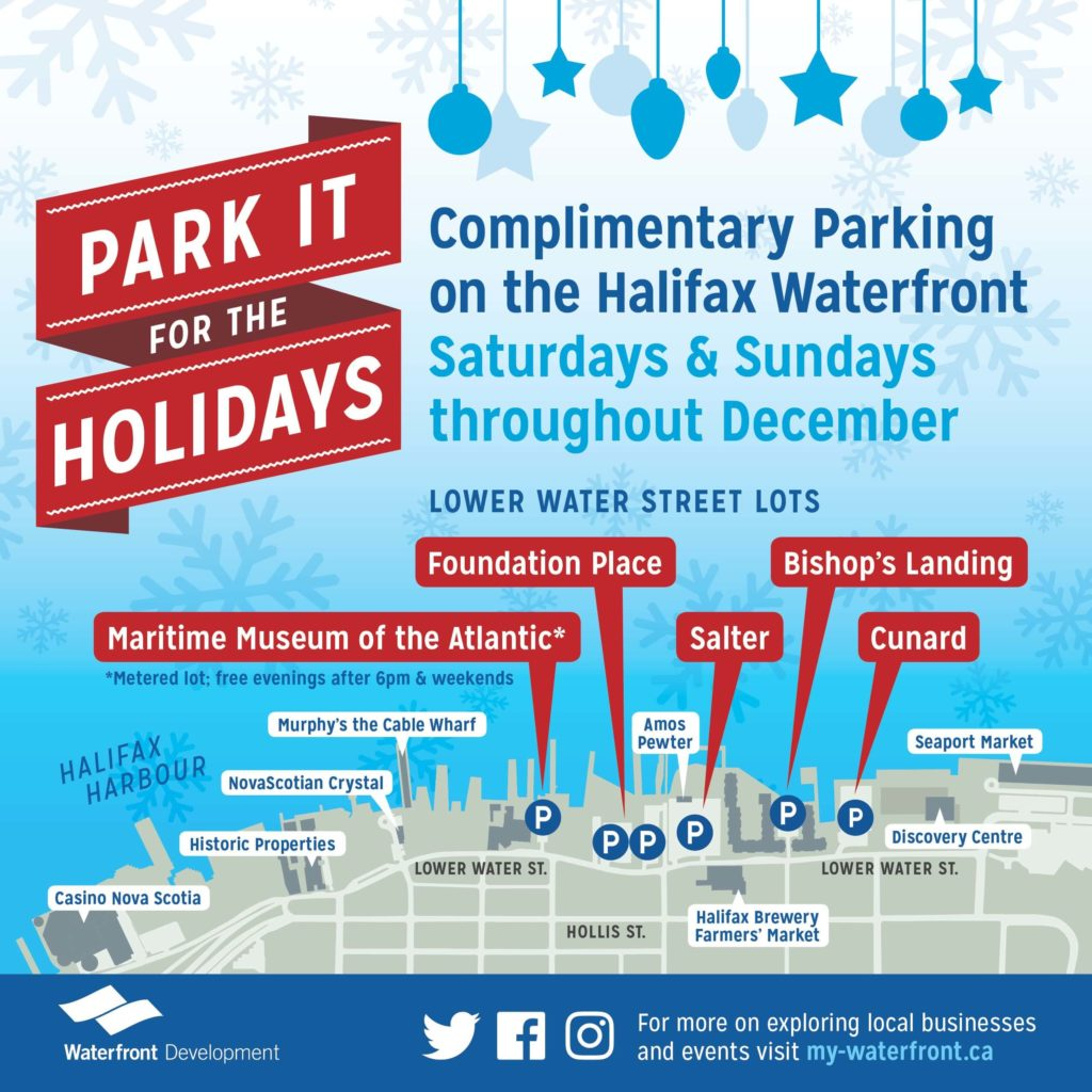 Complimentary Parking for the Holidays Poster