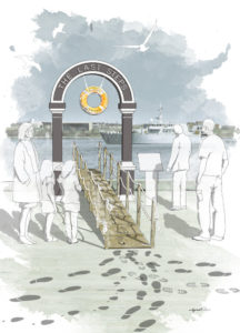 Drawing of The Last Steps Memorial Arch concept