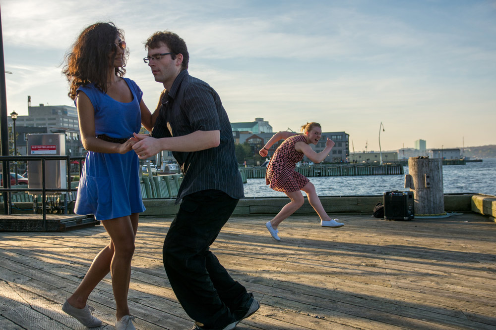 Couple dancing at the Waterfront