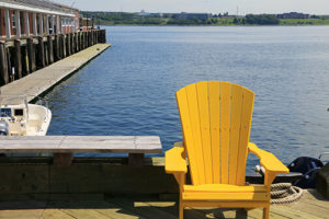 Adirondack Chair at Waterfront
