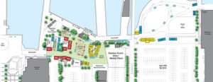 Map of locations available at Halifax waterfront for seasonal businesses